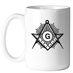 Square & Compass Sunburst 11 oz. Coffee Mug