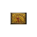 Knights Templar Red Passion Cross Gold Finish Belt Buckle