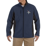 Order of the Eastern Star Embroidered Masonic Men's Soft Shell Jacket