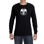 Deus Meumque Jus 32nd Degree Double Headed Eagle Scottish Rite Long Sleeve T-Shirt