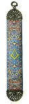 Square & Compass Blue Tapestry Bookmark