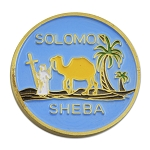 Solomon Sheba Blue & Gold Coin - 1 1/2