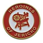 Heroines of Jericho Red & White Coin - 1 1/2