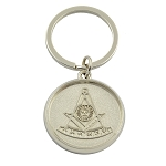 Past Master Silver Medallion Key Chain - 1 1/4