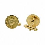 Remington 12 Gauge Shotgun Shell Gold Cufflink Set - 5/8