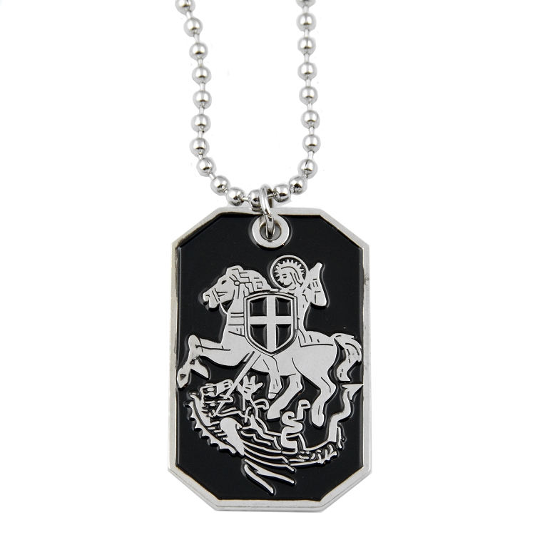 Engraved dog tag necklace the masonic exchange aloadofball Image collections
