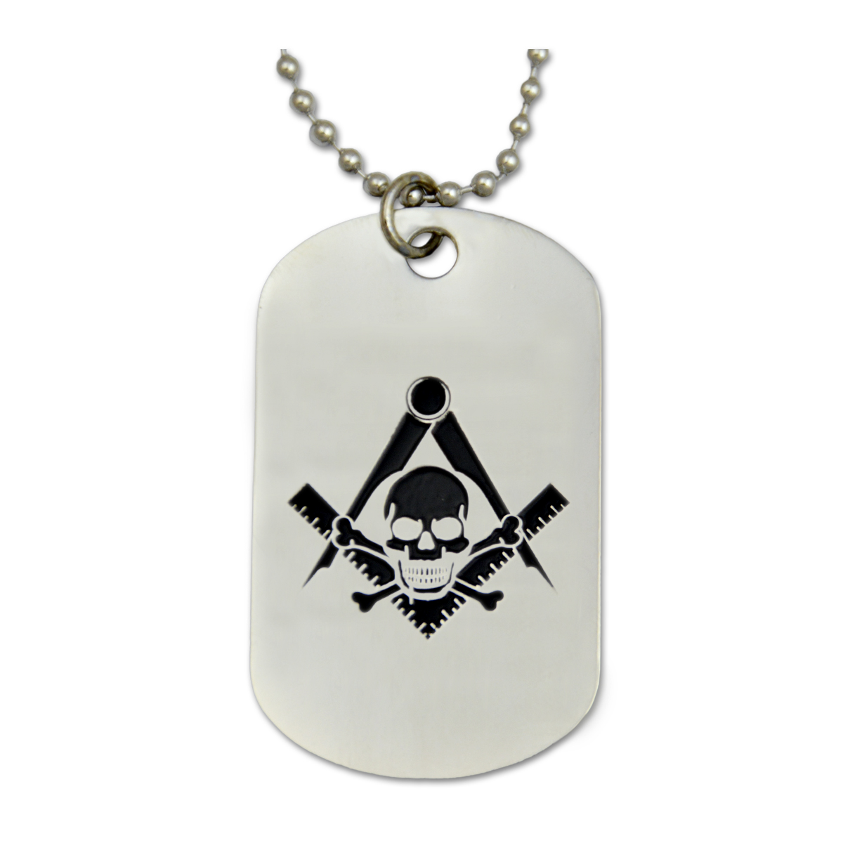 Engraved widows son square compass silver dog tag pendant quick view aloadofball Images