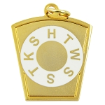 Mark Keystone Gold Pendant/Jewel - 1 1/4