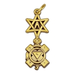 29th Degree Knight of St. Andrew Brass Pendant - 1 1/4