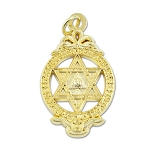 Royal Arch York Rite Gold Pendant - 1 1/2