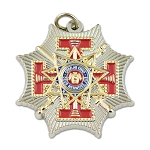 33rd Degree Scottish Rite Red & Gold Pendant - 1 1/4
