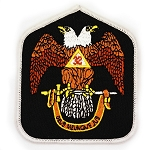 32nd Degree Double Headed Eagle Scottish Rite Embroidered Patch - 3