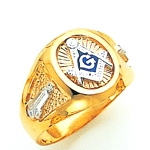 Blue Lodge Ring MAS61354BL