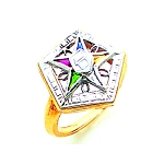 Order of the Eastern Star Ring GLC231ES