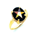 Order of the Eastern Star Ring HOM243ES