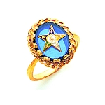 Order of the Eastern Star Ring Blue MAS57358