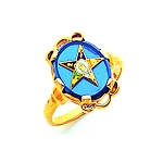 Order of the Eastern Star Ring Blue MAS57359