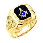 Gold Plated Blue Lodge Ring MASCJ1155