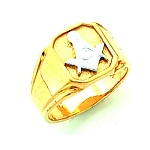 Gold Plated Blue Lodge Ring MASCJ1675