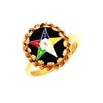 Gold Plated Eastern Star Ring MASCJ57358ES