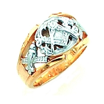 Gold Plated Blue Lodge Ring MASCJ802GLC