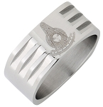 Past Master Stainless Steel Ring 8MM