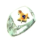 Sterling Silver Blue Lodge Ring MASCJ1037