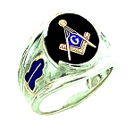 Sterling Silver Blue Lodge Ring MASCJ1145