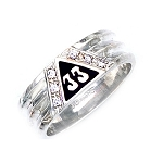 Sterling Silver Scottish Rite Ring MASCJ1148CZ