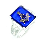 Sterling Silver Blue Lodge Ring MASCJ1158