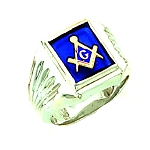 Sterling Silver Blue Lodge Ring MASCJ1171