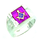 Sterling Silver Blue Lodge Ring MASCJ1280