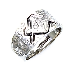 Sterling Silver Blue Lodge Ring MASCJ1673