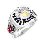 Sterling Silver Past Master Ring MASCJ1852PM