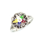 Sterling Silver Eastern Star Ring MASCJ344ES