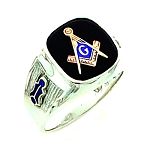 Sterling Silver Blue Lodge Ring MASCJ364