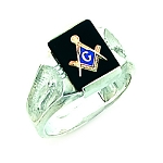 Sterling Silver Blue Lodge Ring MASCJ60217