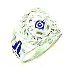 Sterling Silver Blue Lodge Ring MASCJ707