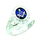 Sterling Silver Blue Lodge Ring MASCJ72059
