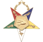 Order of the Eastern Star Warder Officer Jewel - 2 1/2