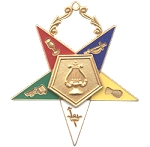 Order of the Eastern Star Organist Officer Jewel - 2 1/2