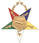 Order of the Eastern Star Trustee Officer Jewel - 2 1/2