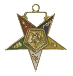 Order of the Eastern Star Worthy Patron Officer Jewel - 1 1/2