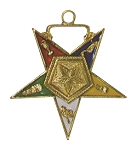 Order of the Eastern Star Associate Patron Officer Jewel - 1 1/2