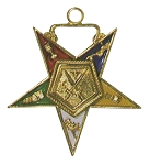 Order of the Eastern Star Sentinel Officer Jewel - 1 1/2