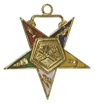 Order of the Eastern Star Marshal Officer Jewel - 1 1/2