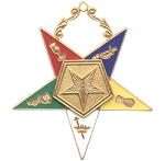 Order of the Eastern Star Associate Patron Officer Jewel - 2 1/2