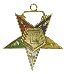 Order of the Eastern Star Lecturer Officer Jewel - 1 1/2