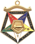 Order of the Eastern Star Grand Chapter Worthy Matron Officer Jewel RES-54