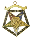 Order of the Eastern Star Grand Chapter Worthy Patron Officer Jewel RES-55